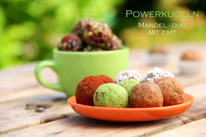Powerkugeln Mandel-Duo mit Zimt