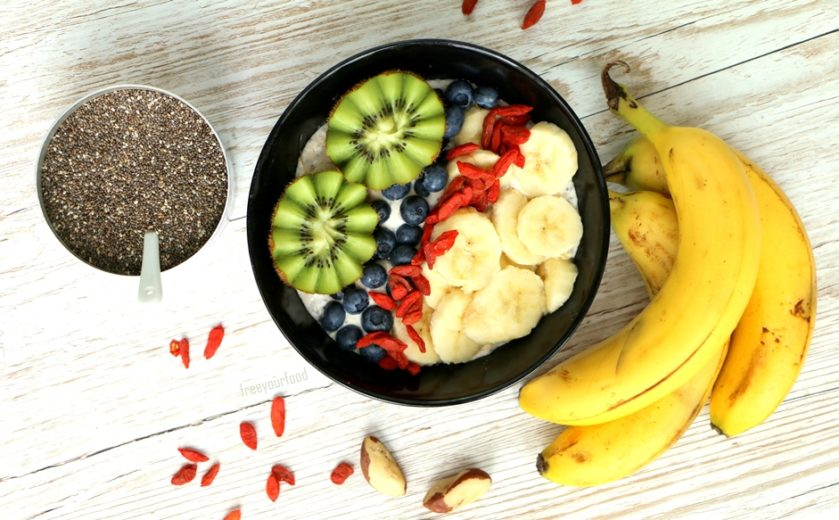 Chiabowl Frühstück veggie Frühstück vegane Rezepte gesunde Meal Prep