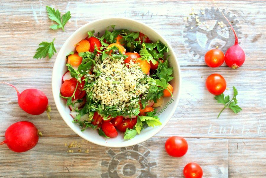 Rohkostsalat Free your Food Raw Food vegan glutenfrei ohne Soja gesunde Rezepte