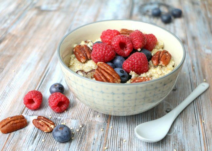 Quinioabowl zum Frühstück vegane Rezepte gesund Meal Prep