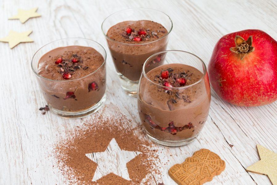 Vegane Weihnachtliche Schokocreme mit Spekulatius