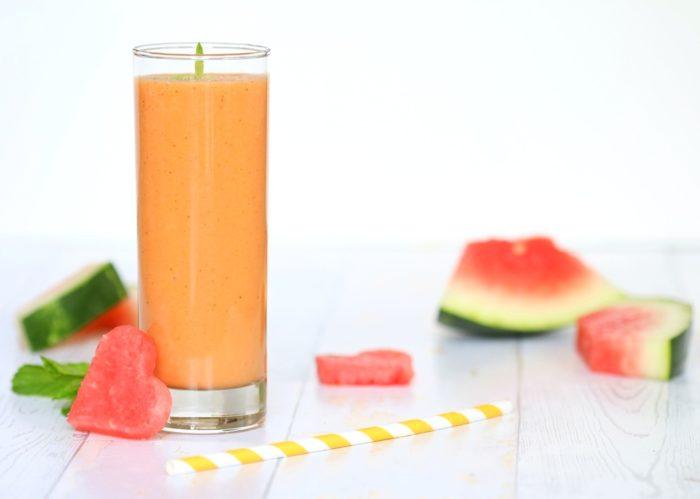 Wassermelone-Mango Smoothie Früchte Obst