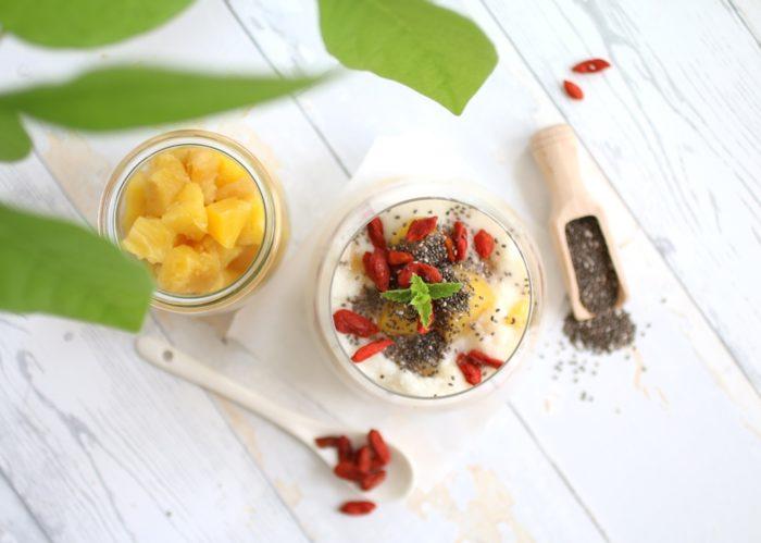 Blitz-Kokos-Frühstücksbrei