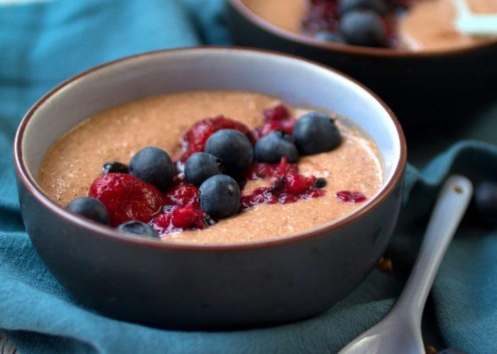 Buchweizencreme Kokos Kokosmehl Schoko Frühstück vegane Rezepte gesund