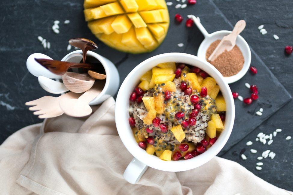 Macadamia-Mohn-Milchreis vegane Desserts Frühstück Rezepte