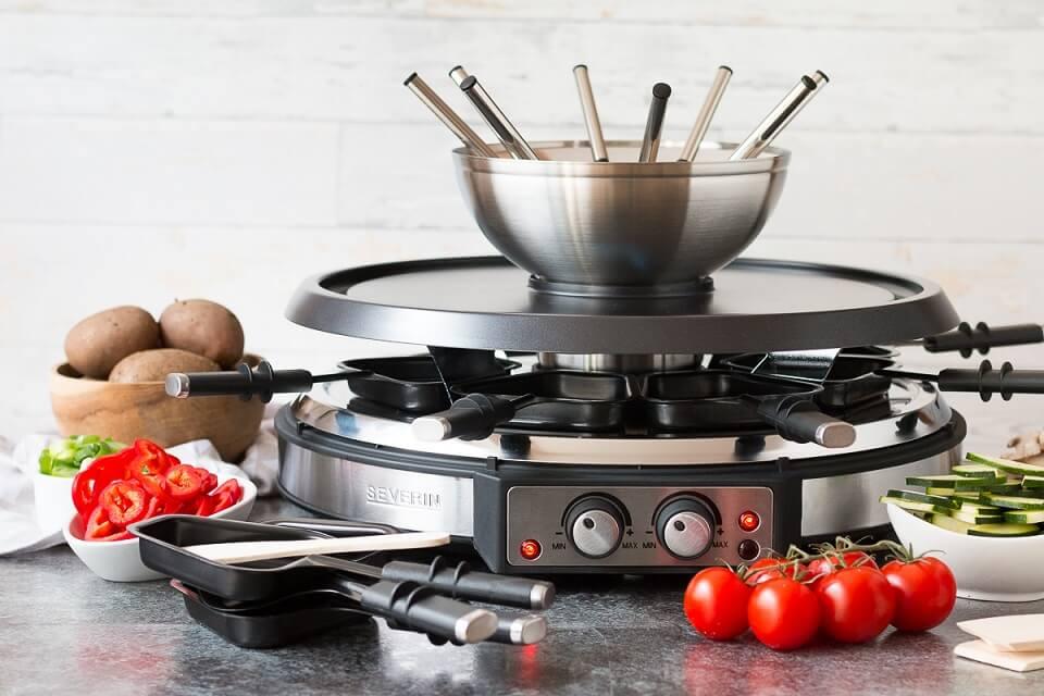 Veganes Raclette ist auch Dank der Raclette-Fondue-Kombi von Severin problemlos möglich.